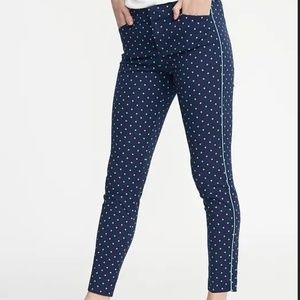Old Navy Pixie Ankle Polka Teal Dot Pant